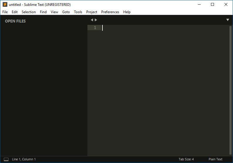 Interface Sublime Text 3